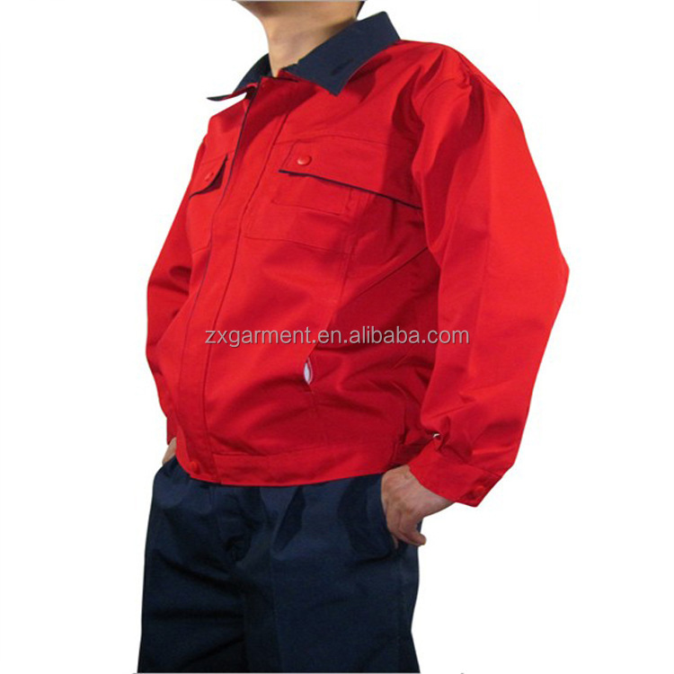 RED hi vis workwear OEM MANUFACTURER made in China
