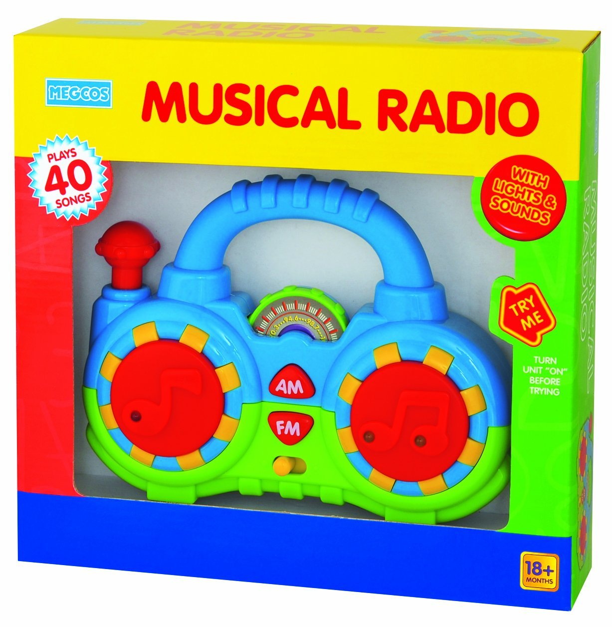 Megcos Carry-Along Musical Toy Radio with Lights and Sounds