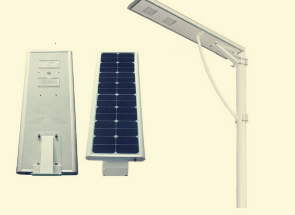 20W 6m double arm solar street <strong>lights</strong> with 50W solar panels all in one design