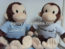 2013 hot sale stuffed plush toy monkey