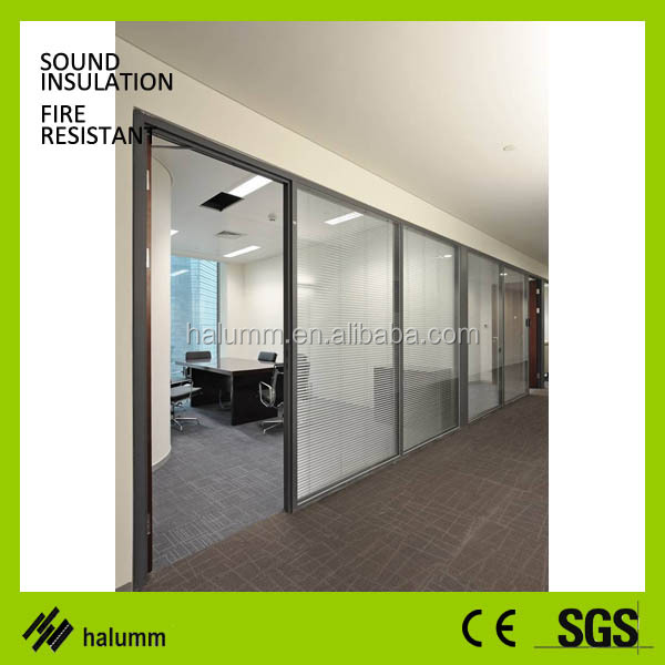 Sound Proof Glass Room Dividers Indoor Office Partition Glass Wall ...