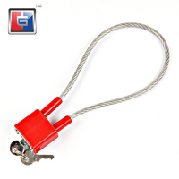 34mm new design gun trigger safety luggage cable plastic gun lock for gun safe with key