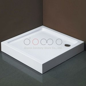 Domo White Solid-surface Clean Acrylic Deep Shower Tray With CE/Domo Sanitary Wares Supplier