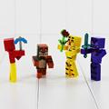 4pcs set Five Night At Freddy Building Blocks With Weapons Figure 7cm Fox Bear Bonnie PVC