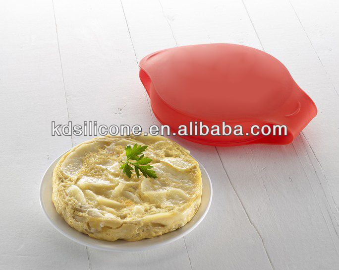 FDA&LFGB Round Silicone Omelette maker, Non-stick Silicone Egg Cookers, Silicone Fried Egg Molds