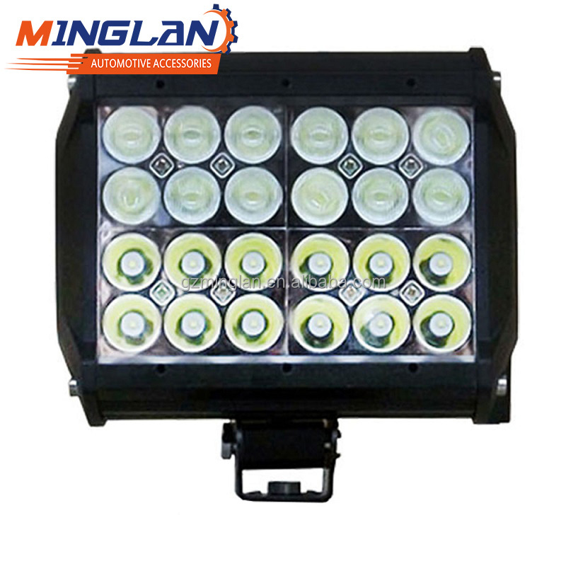 Wholesale 4 Row led lightbar 72w Car LED offroad bar light 72w with high power led chips IP67 for cars trucks motorcycles