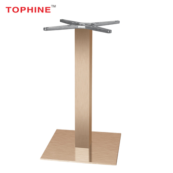 Commercial Contract Tophine Adjustable Gliders Copper Color Brushed - Brushed aluminum table base