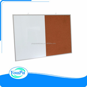 Magnetic Dry Erase/Cork Combo Board, Whiteboard & Cork board Combination with Aluminum Frame