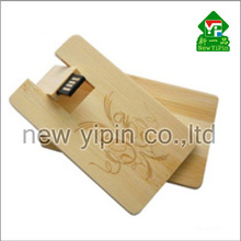 New Yipin USB 2.0 High Speed Full Capacity Logo Customize Card Type USB Flash Drive