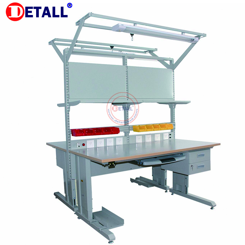 Detall standard ESD workbench with adjustable and fixable type