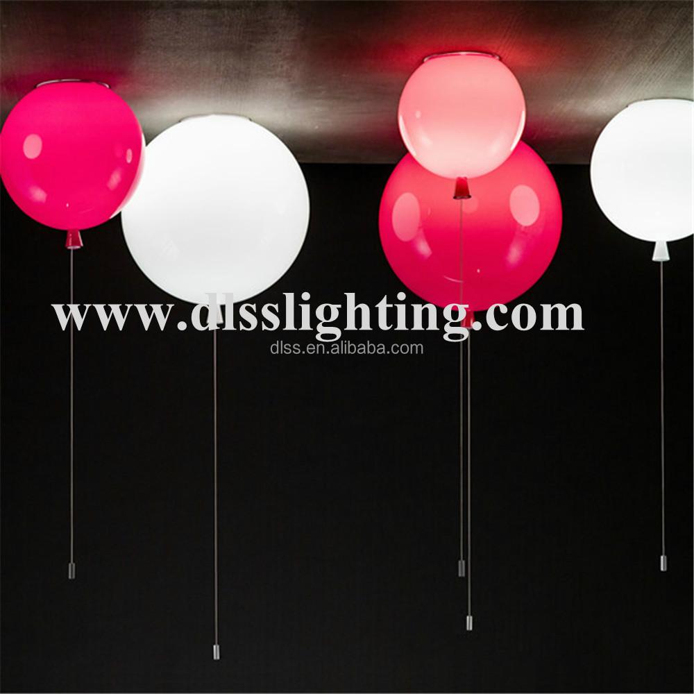 Oranje acryl brokis geheugen ballon kinderen woonkamer hanglamp ...