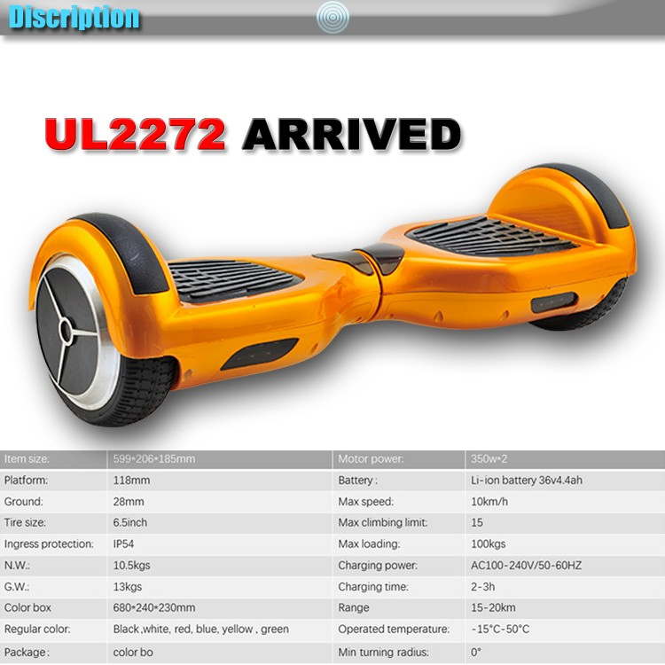 Ul2272 Alien Board Hoverboard Yellow Bluetooth Hoverboard: Ul2272 Hover Board Two Wheels Lamborghini Hoverboard Gold