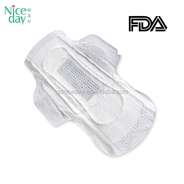 Super absorbent biodegradable Bamboo charcloal breathable sanitary towel