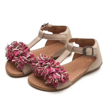 e00ca0a862c6 China Wholesale Leather With Tassel Flower Kids Baby Girl Summer Sandal  Shoes 2018