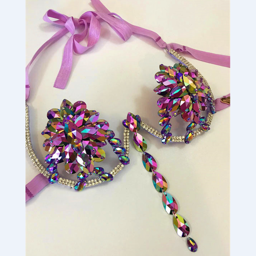 9f019c9aa2 2018 Carnival Costumes new designs customized Sex brazilian bling bling carnival  wire bra frame