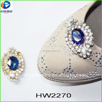 HW2270 renqing factory shoe collection blue eye satin ballerina jewel
