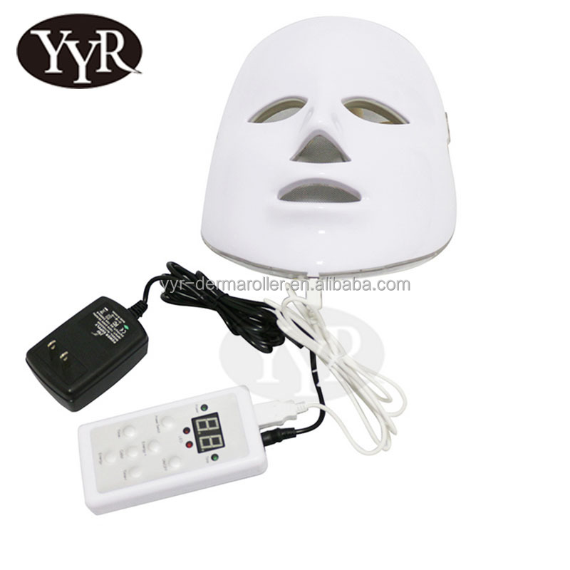YYR 7 Color PDT LED Mask / Skin Whitening LED Light Therapy Machine / Home Use LED Facial Mask
