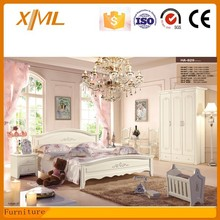 top quality home furniture / carved bed room set / solid wood modern design bedroom set HA-829