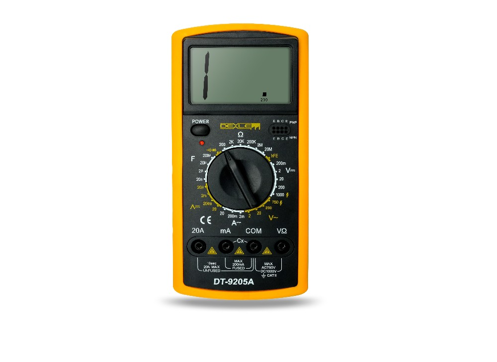 Different Types Of Multimeters : Dele dt a low price types of digital analog multimeter