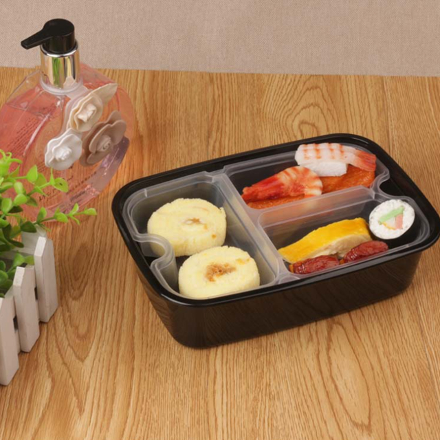 Hot Selling Low Price Multisize Disposable Plastic Tiffin Food Container Fast Food Take Away Portable Box BPA Free Biodegradable