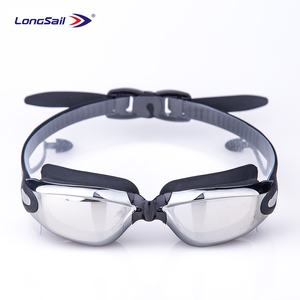 Fashion design indoor waterproof glasses clear vision swimming goggle with ear plug