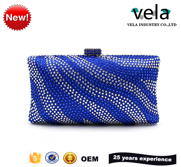 Gliter Diamond Women Evening Bags Wedding Party Box Clutch With Clear Crystal