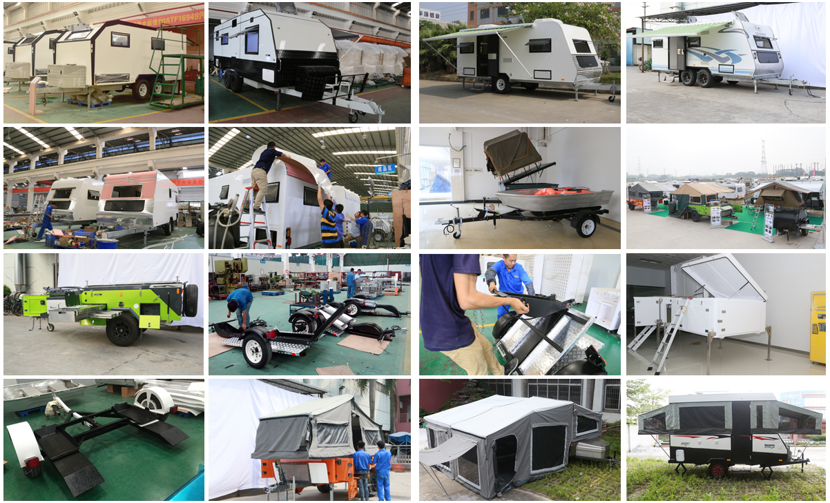 Ecocampor Best Tiny Off Road Aluminium Composite Panel Teardrop Caravan Trailer with  Bathroom