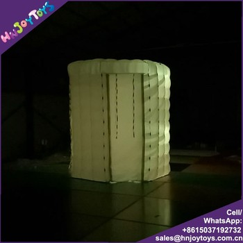 whiter color with led light best quality oxford nylon inflatable portable photo booth from China