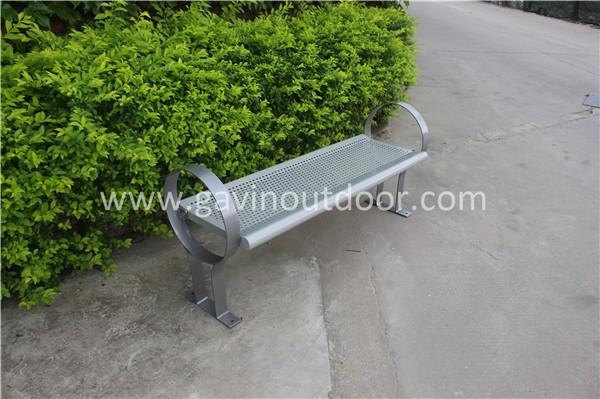 Metal Park Bench Frame Steel Brackets Outdoor