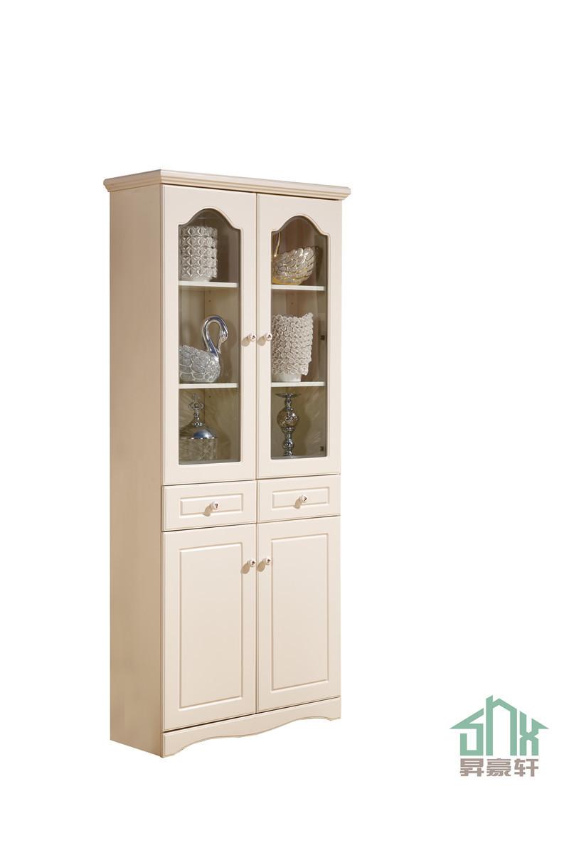 White Antique Bookcase With Glass Doors Ha-c# Design In Book Shelf ...