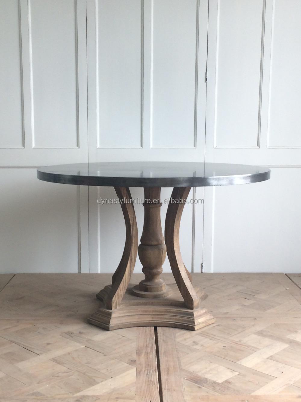 estilo francs clsico de madera antigua mesa de comedor redonda