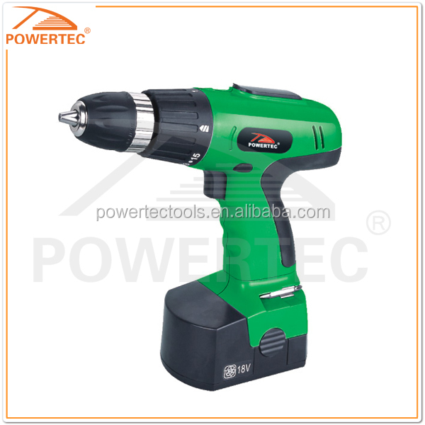 POWERTEC 12-21.6v 10mm high effective battery drill, high torque hand drill,easy torque drilling