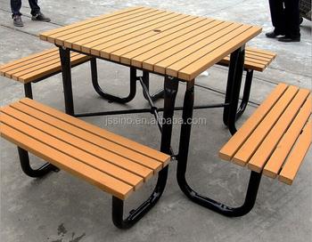 Wpc Extérieur Table Et Banc Buy Table Et Banc Extérieurs De Wpc