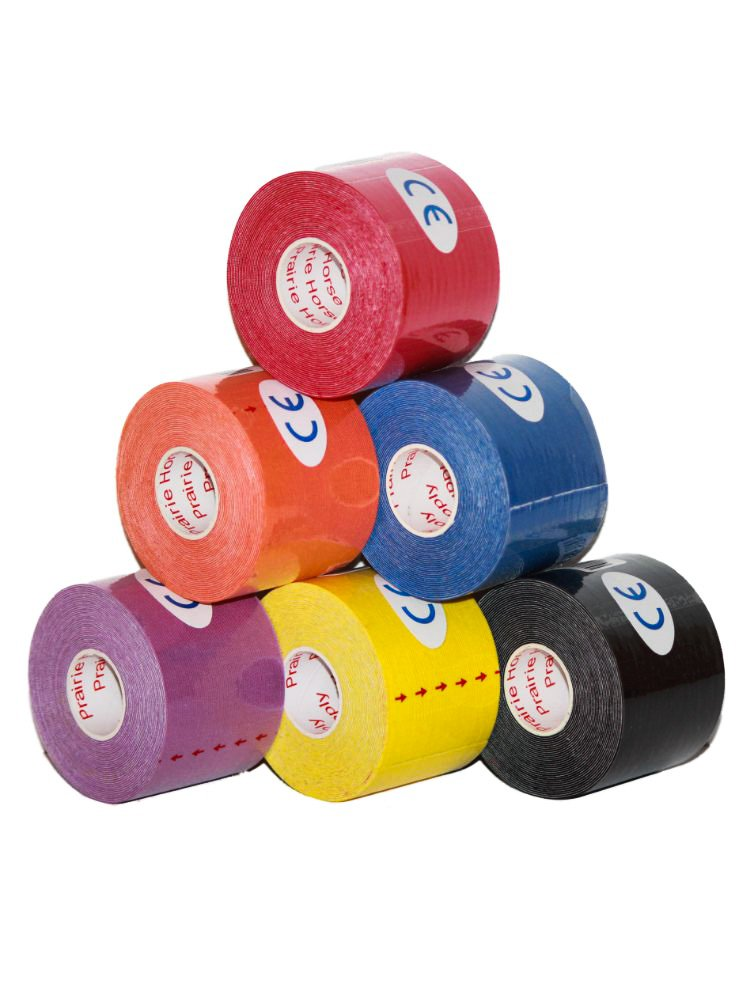 """Kinesiology Tape Pro, 100% Money Back Guarantee, Waterproof Muscle Support Adhesive, Sport Tape for Athletes 2"""" inches x 16.4' feet Single Roll, 2, 4, 6, or 12 Packs, Assorted Colors"""