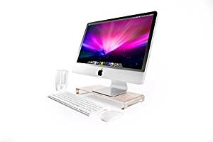 Monitor Riser Stand, Jellas Universal Aluminum Laptop Stand With Keyboard Space for New Macbook / Macbook Pro / Macbook Air, Apple Notebooks, PC Computer.