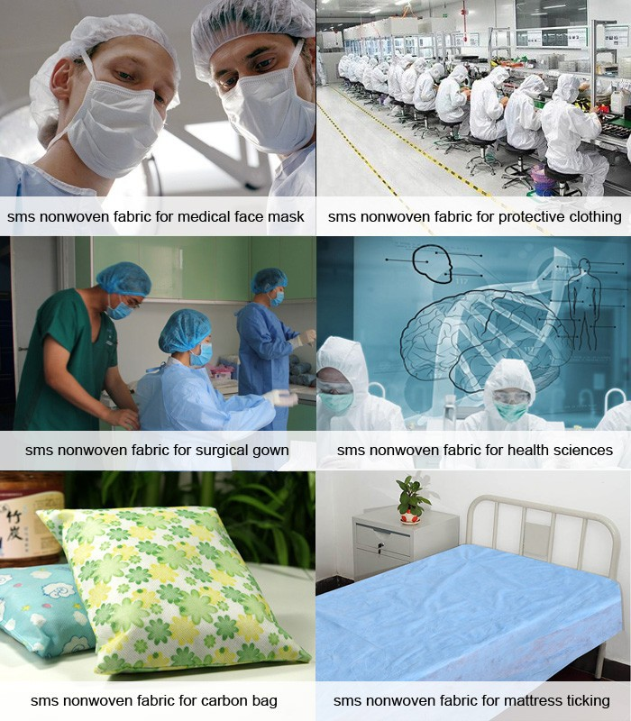 Applications of sms nonwoven fabric