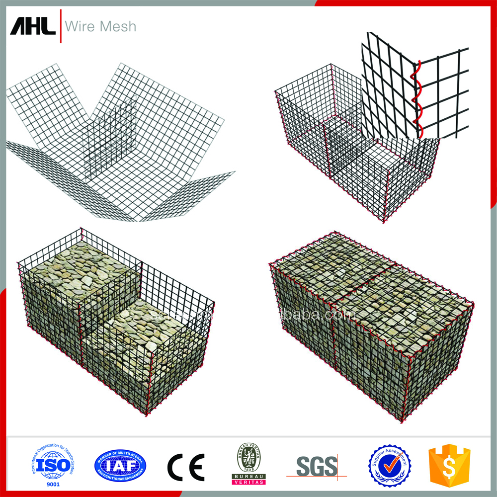 PVC Coated Philippines Stepped Gabion Basket Gabion Wire Mesh Box for Wall Construction