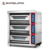 2-Layer 4-Tray Gas Deck Oven with Temperature Control and Stand