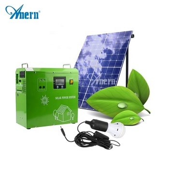 low price China potable solar home energy generator with mini solar panel and lamp