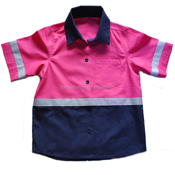 Cotton Drill Work Shirt for kids