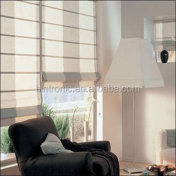 Bintronic Electric Taiwan Curtain Rod Suppliers Motorized Roman