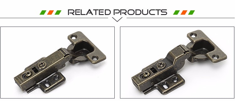 Bronze Clip On 35mm Concealed Hydraulic Cabinet Hinge