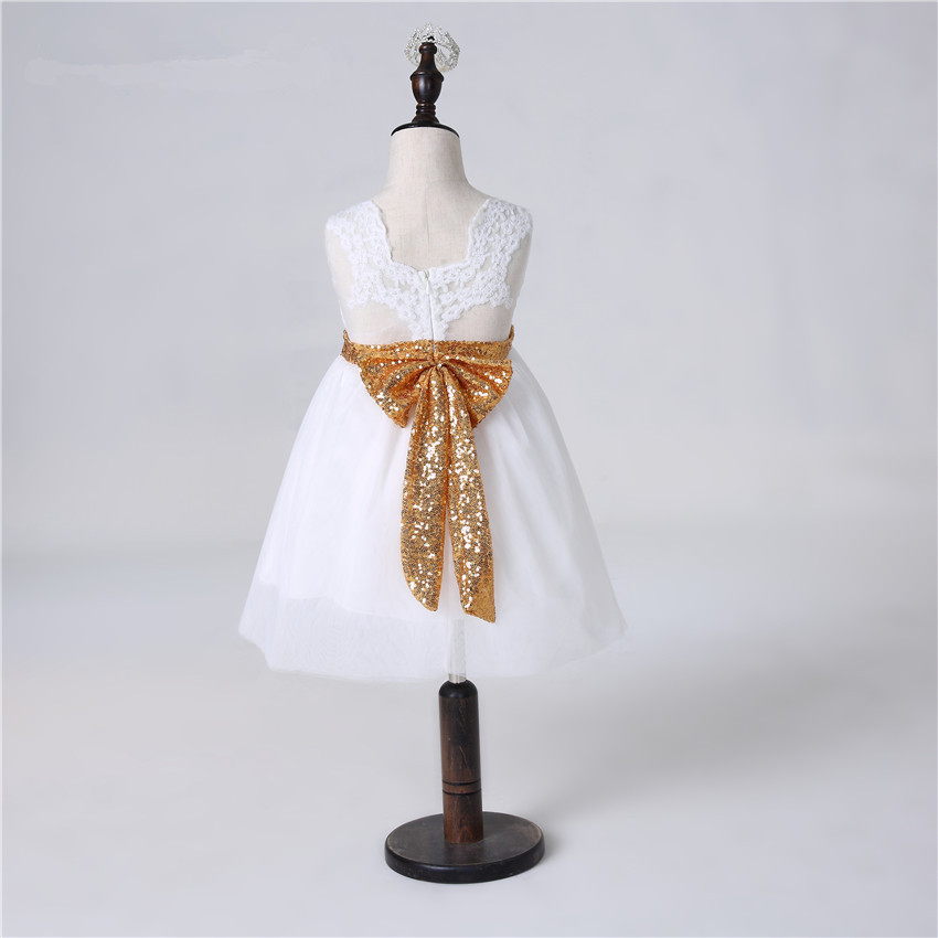F20584A新しいスタイル子供服ベビードレス女の子誕生日ドレススパンコールレースドレス用赤ちゃん女の子
