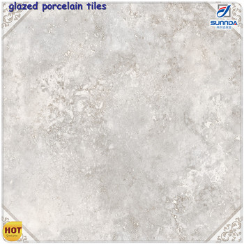 Cultured Glossy Marble Floor Tiles60x60 Grey Marble Glazed 3d