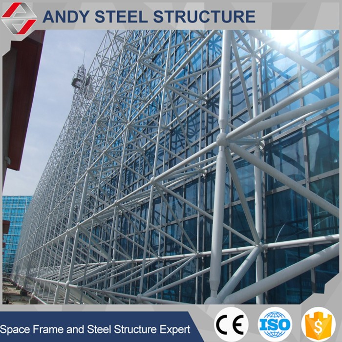 Anti Earthquake Glass Curtain Wall Steel Structure