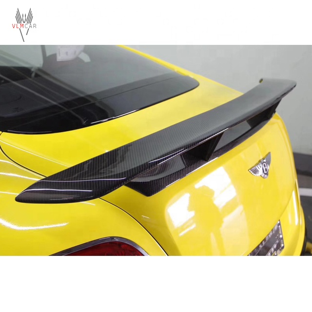 M Phong Cách Carbon Fiber Rear Spoiler Wing cho Bentley Continental GT Coupe V8 2012-2014