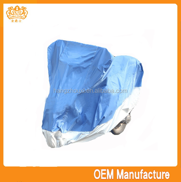 Double colour 190t silver coated high quality inflatable motorcycle cover at factory price
