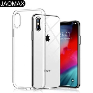 Crystal Clear Soft TPU Thin Cover For iPhone Xs Max Case Transparent Edge Slim Cases For iPhone Xs Max 6.5