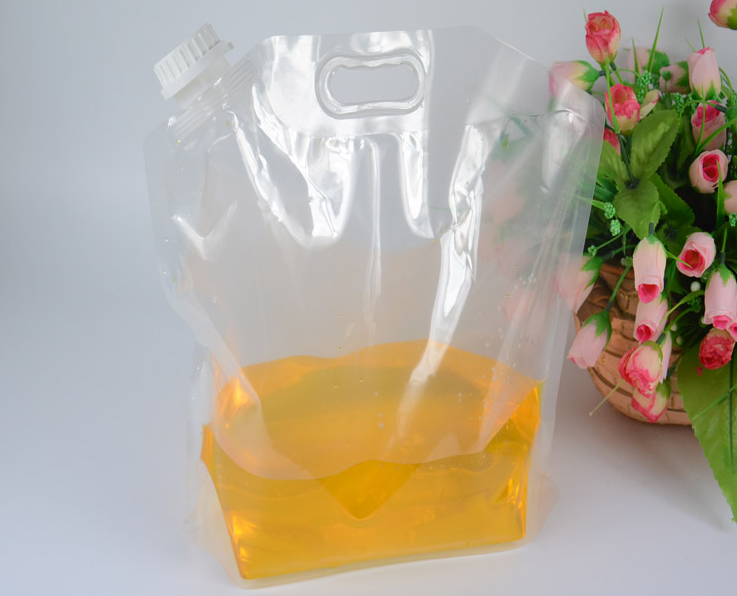 10L 5l 3l Stand up water pouch with spout,drinking water plastic pouches,mineral water spout pouch