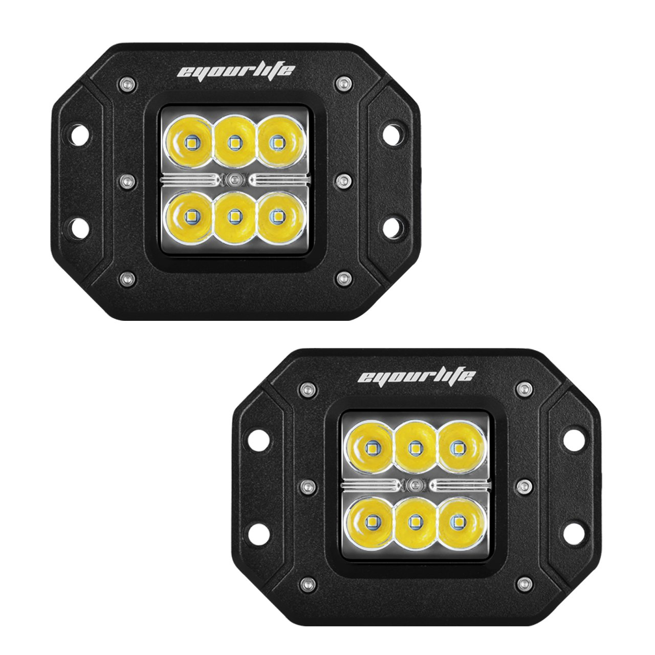 Buy Eyourlife 2pcs 18w Spot Led Work Light Bar Driving Fog